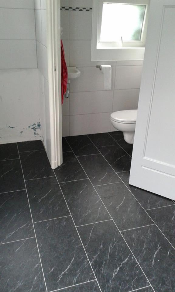 PVC met voeg van TFD. Ook in badkamers en keukens te leggen!