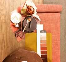 Voorjaarskriebels  kleurenpalet framboosrood, mosterdgeel & hout! #inspirati…