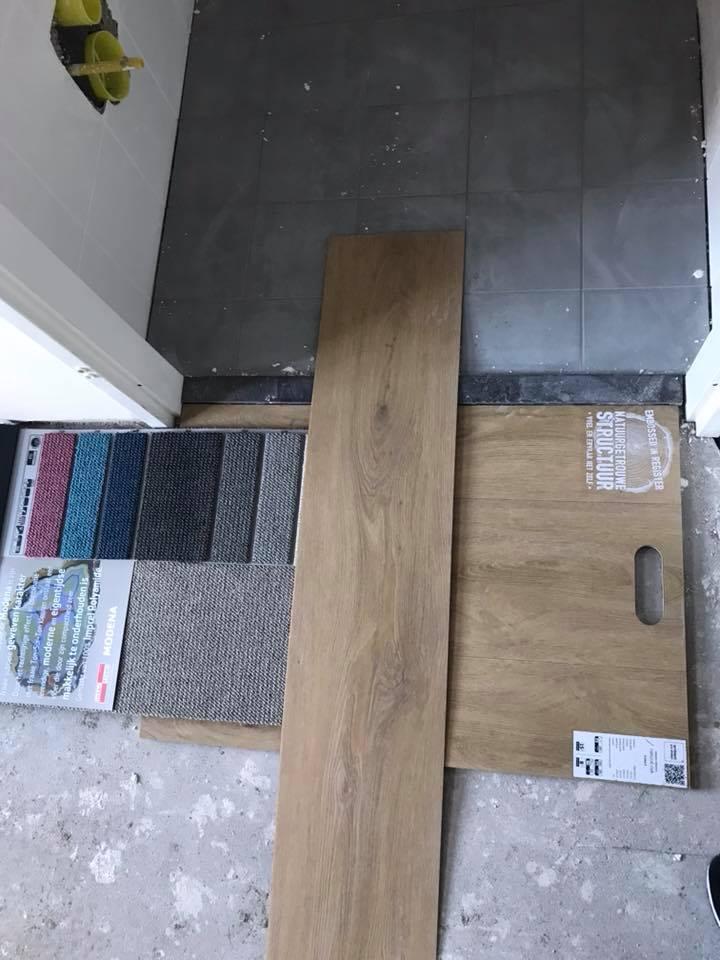 Vandaag een prachtige combinatie van verschillende vloeren en materialen uitgezo…