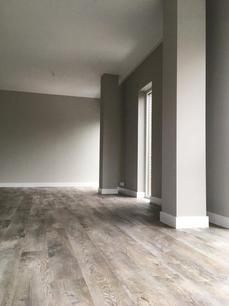 Vandaag dit mooie , en erg grote appartement mogen opleveren met de Impress pvc …